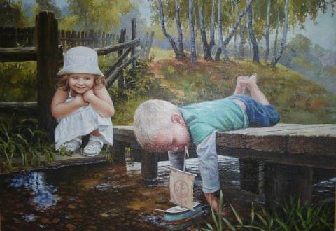 взрослые во всем ищут счастье...А дети его во всём находят